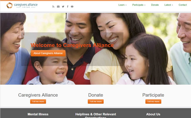 Caregivers Alliance website|Yvanne Teo